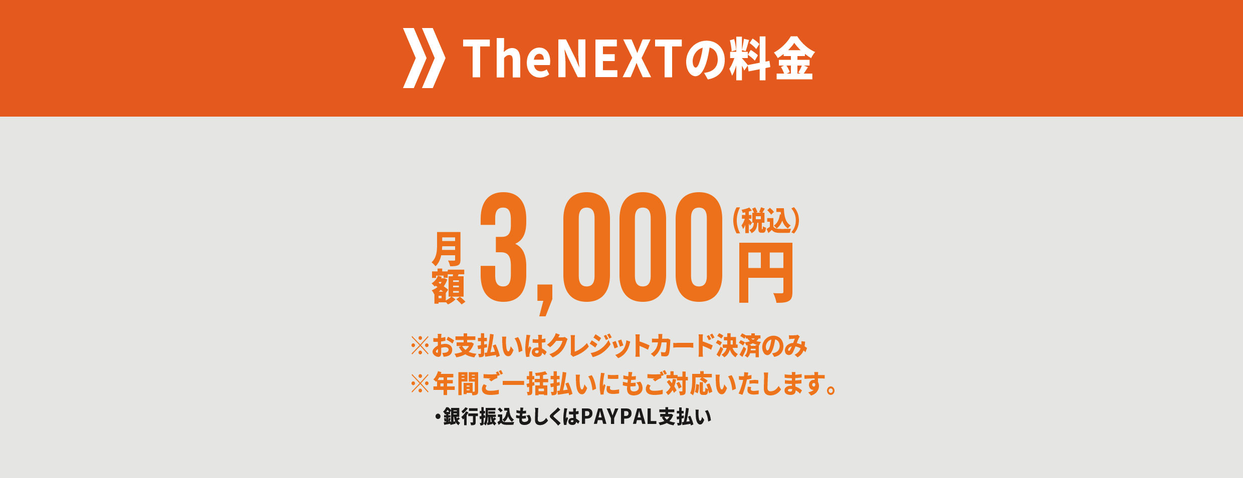 TheNEXTの料金